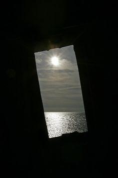 Kiipsaare lighthouse, window, Saaremaa island, Estonia