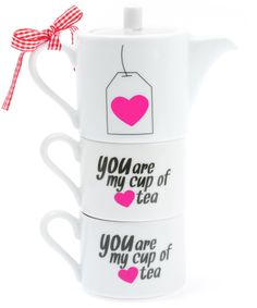 """You Are My Cup Of Tea"" Stackable Teapot."