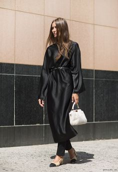 love that dress over that pant...giorgia tordini, fendi, the row, carven, chanel via garance doré