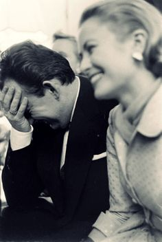 Princess of Monaco, Grace Kelly   & Prince Rainier III have a laugh