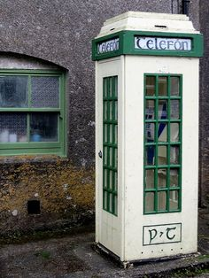 Phone booth in Castletownshend, West Cork, Ireland. My next phone booth. West Cork, Telephone Booth, Telephone Call, Images Of Ireland, Irish Eyes Are Smiling, Irish Cottage, Irish Roots, County Cork, Irish Blessing
