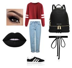 """""""Lunch out 🍴"""" by miadoyle000 on Polyvore featuring Topshop, adidas and Joomi Lim"""