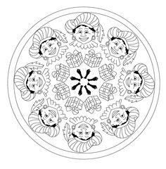Kleurplaten Sinterklaas Mandala.111 Geweldige Afbeeldingen Over Sinterklaas Kleurplaten