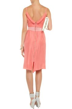 Roland Mouret Marian washed-silk dress - 55% Off Now at THE OUTNET