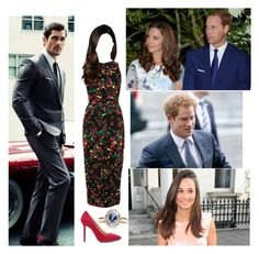 Seen out having dinner with Wills, Kate, Harry and Pippa by jumanaofpalestine on Polyvore featuring polyvore fashion style Elie Saab Charlotte Olympia Pippa clothing