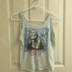 Vintage Madonna concert tee!!! From the actual concert on her Who's That Girl world tour. Tiny paint stain near the bottom, but barely noticeable. Not actually Brandy, being that it's from the concert. Brandy Melville Tops Tank Tops