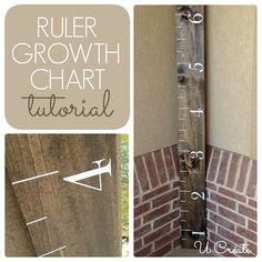 DIY Ruler Growth Chart - kids LOVE to see how much they grow...great baby gift too!