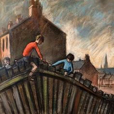 Norman Cornish - A Slice of Life: Mining Art Gallery Popular Artists, Local Artists, Brancepeth Castle, Auckland Castle, Norman Cornish, Bishop Auckland, Drawn Together, Most Famous Artists, Old Street