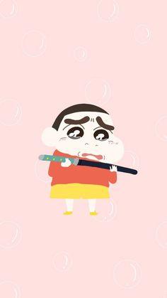 Sinchan Wallpaper, Locked Wallpaper, Wallpaper Iphone Cute, Sinchan Cartoon, Crayon Shin Chan, Kawaii Art, Chibi, Illustration Art, Snoopy