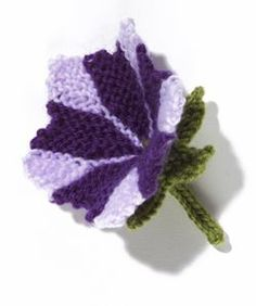 Petunia Flower Knit. Pattern