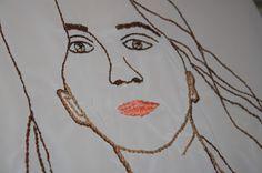 Miriam García Aguirre. Bordarse /To Embroider Oneself. (Detalle/Detail). 2017.  (Proyecto Tejido recuperado/ Weave  Recovered Project). Tijuana. México.