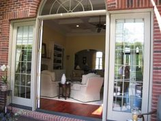 Looking from screened in porch into the great room