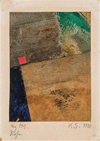 Kurt Schwitters, Constructivism, Modern Contemporary, Original Artwork, Mixed Media, Auction, Collage, Artist, Prints