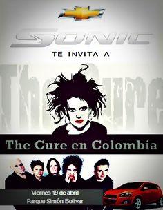 Chevrolet Colombia y su nuevo Chevrolet Sonic te invitan al concierto más esperado en nuestro país: The Cure en Bogotá,  abril 19 / Parque Simón Bolívar.  #TheCureDeGiraxChevrolet @Chevrolet Colombia  #TheCure #Colombia #Bogota #Chevrolet #Sonic @klaudiaguesa