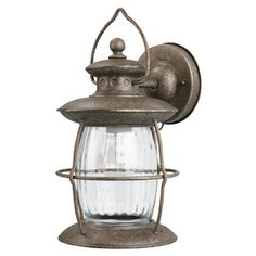 Portfolio Antique Pewter Outdoor Wall Light for using in Bathroom