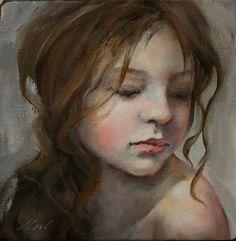 "Moonglance Original Portrait Oil on Canvas 6""x6""x1 5' OOAK Portrait | eBay"