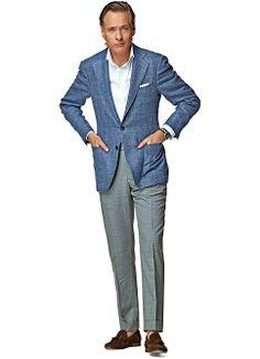 Jort  Blauw Uni Jacket 50