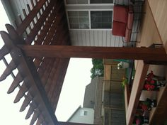I definitely want to build a pergola on the patio! It would be perfect to grow flowers on and string lights for evenings on the patio! Deck With Pergola, Outdoor Rooms, House Exterior, Pergola Plans, Backyard Projects