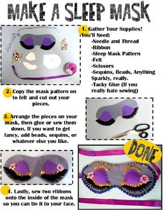 Fancy Sleep Mask - Program for teens - Summer Reading - Own the Night