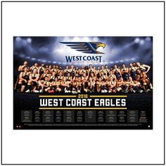 Father's Day Special! framed 2016 West Coast Eagles team posters were $195ea now $99.50 #westcoasteagles #perth #memorabilia #fathersday
