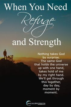 Nothing takes God by surprise. The same God that holds the universe up with one hand, takes hold of me by my right hand. We'll get through this together, day by day, moment by moment. #Christianity #HopePrevails
