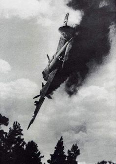 Last second of a Junkers Ju88
