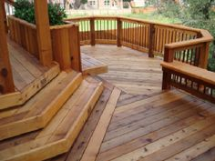 deck idea, multi level, angled deck boards meeting straight boards