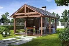 Have you prepared your garden for a beautiful one? # house # home # house # garden # garde Modern Gazebo, Hot Tub Gazebo, Gazebos, Woodland House, Outdoor Fireplace Designs, Bungalow House Design, Cottage Farmhouse, Outdoor Living, Outdoor Decor