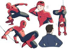 Spiderman and Tony Marvel Fan Art, Marvel Avengers, Marvel Comics, Tom Holland, Stucky, Spideypool, Superfamily, Fanart, Amazing Spiderman
