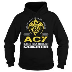 ACY Blood Runs Through My Veins - Last Name, Surname TShirts