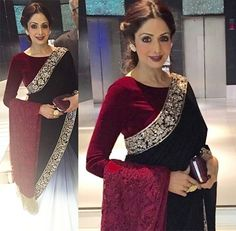 Sridevi in Manish Malhotra saree