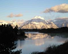 jackson hole, wyoming- grand tetons Rode horses around this lake - would love to go again.
