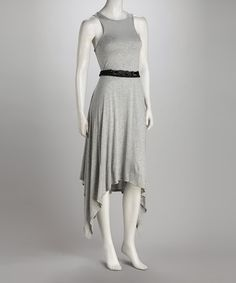 Take a look at this Gray Belted Sidetail Dress by American Buddha by Yogi on #zulily today!