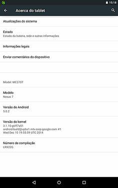 Nexus 7 - Lollipop 5.0.2