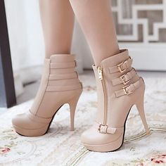 Women's Stiletto Heel Ankle Fashion Boots(More Colors) – EUR € 28.87