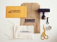 love the variety. stamped bags & envelopes. doesn't need to be vintage, for us.