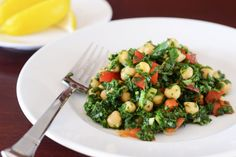 Chickpea Spinach Salad