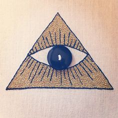 embroidered eye of providence