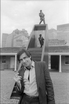Architect Bernard Tschumi at Castle Clinton in Battery Park with his 'Stairway for Scarface'