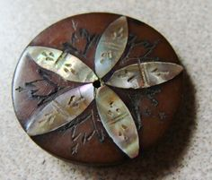 Antique Inlaid Button - I don't even know where to pin this! Beee-uuu-tiful.