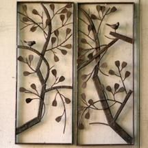 Rustic Metal Trees Wall Art, both for inside and outside!