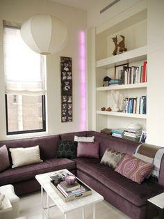 Pretty purple living room