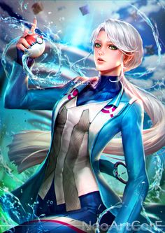 Leader Blanche, Pokemon Go artwork by Neo Art Core. Pokemon Team, Pokemon Go Teams Leaders, Pokemon Go Team Mystic, Pokemon Show, Cool Pokemon, Manga Illustration, Character Illustration, Illustrations, Artist Painting