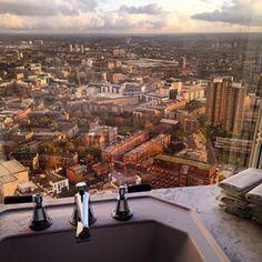 London from a toilet at Aqua Shard - Handpicked