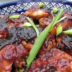 Soy and ketchup, laced with honey and garlic, make for a potent sauce. This chicken is ideal for appetizers or a main course.