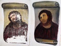 restauracion del cristo de borja por Cecilia Giménez (Agosto 2012)