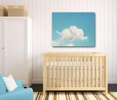 Elephant Nursery Art, Elephant Wall Art, Dumbo Art, Cloud Photography, Blue & White Nursery Decor, Large Canvas Wrap, Baby Boy Nursery Art on Etsy, $80.00