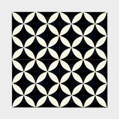 Pack of 12 Amlo Circle Black Handmade Cement and Granite 8-inch x 8-inch Floor and Wall Tile (Morocco)
