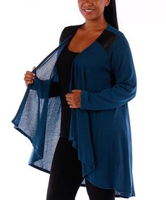 Loving this Teal Sheer Open Duster - Plus on #zulily! #zulilyfinds