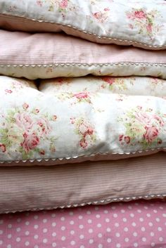 Pretty materials. Cozy Comforters.